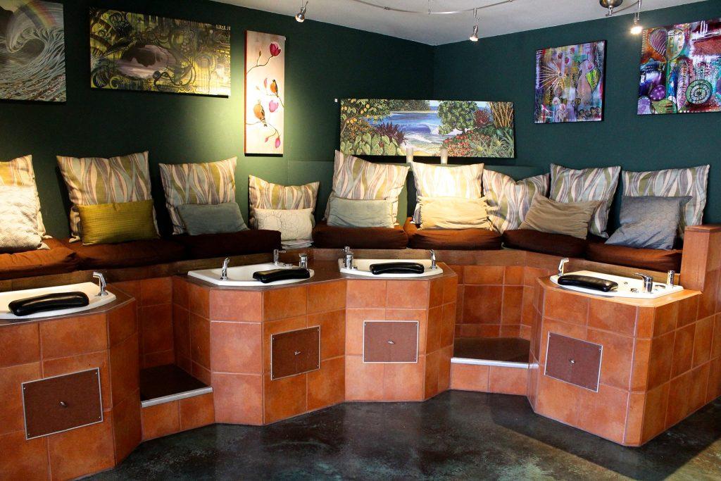 spa pedicure set up